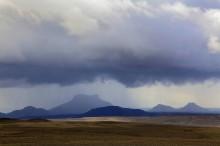Kjolur Route rainstorm over Langjokull
