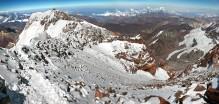 Aconcagua Summit view of Canaleta chute