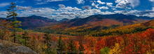 lookout panorama over Great Range and Giant Mt on sunny fall day