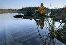 Peaceful morning on String Lake, Tetons
