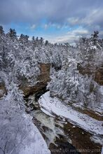 Ausable Chasm after winter snowfall