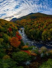 High Falls Gorge,Whiteface Mt,Whiteface,Whiteface Mountain,Ausable River,AuSable River,drone,vertical,vertical panorama,fall,2019,