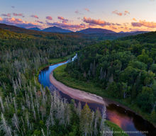 Ausable River,River Road,roadway,county road,Adirondack,rural,road,scenic drives in the Adirondacks,scenic river corridor,ski jumps,Lake Placid,drone,2019