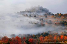 Bald-Rondaxe Mt,Bald Mt,Rondaxe firetower,firetower,Second Lake,sunrise,fall,2013,fog,Bald-Rondaxe Mt firetower,forest,