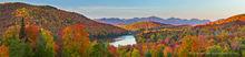Iroquios, Colden, Redfield, Allen, Mt Marcy, Haystack, Basin, Saddleback, Gothics, Sawteeth,Balfour Lake,Balfour,Adirondack High Peaks,High Peaks range,High Peaks,Adirondacks,fall,autumn,fall panorama