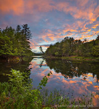 Lake Eaton,Beecher Park,Lake Eaton outlet,outlet pond,Lake Eaton outlet pond,Beecher Park pond,summer sunset,summer reflection,2018,Long Lake,Adirondack Park,landscape,square panorama,reflection,summe