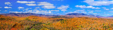 Dix Range,Dix Mt,October,October snowfall,High Peaks,Belfry Mt,firetower,puffy clouds,autumn,Adirondacks,eastern Adirondacks