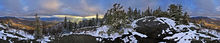 Big Crow Mountain,Big Crow Mt summit, summit,360 degree panorama,panorama,spring,snowfall,spring snowfall