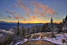 Big Crow Mt,Big Crow Mountain,summit,April,sunset,Sentinel Range,