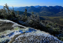 Big Slide Mt summit spring frost and Great Range