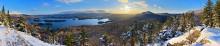 Blue Mountain Lake,Blue Mountain,Castle Rock,winter,panorama,December,Adirondack Park,Adirondacks,Johnathan Esper