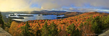Blue Mountain Lake,autumn,Blue Mountain,Castle Rock,panorama,180 degree panorama,sunrise,morning,Adirondacks,lake,