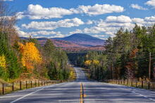 Blue Mountain from Route 30 north of Long Lake