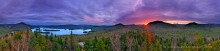 panorama,360 degree,Blue Mountain Lake,spring,sunset,treetop,Castle Rock,hdr,Blue Mountain
