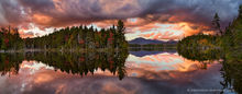 Boreas Pond,Boreas Ponds,sunset,reflection,dramatic,clouds,storm,stormclouds,red,autumn,2016,panorama