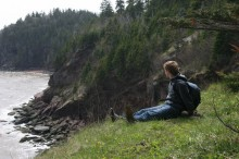 Me enjoying coastal views somewhere