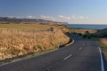 New Zealand, coastal, road