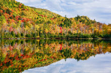 Chapel Pond,reflection,Adirondack Park,lake,pond,autumn,forest,reflected,High Peaks