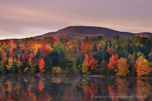Lyon Mt,Lyon Mountain,Chazy Lake,Chazy Lake Seine Bay,autumn,foliage,sunrise