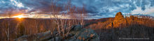 Chimney Mountain,Chimney Mt,central Adirondacks,Adirondack Mountains,May,2019,spring,sunset,sunset light,summit,rocks,panorama,