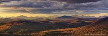Chimney Mountain,Chimney Mt,central Adirondacks,Adirondack Mountains,May,2019,spring,sunset,sunset light,summit,rocks,panorama,High Peaks