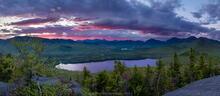 Clear Pond, Elk Lake Preserve, Elk Lake, Dix Range, white birch, log, birch, panorama, spring, 2013, sunrise, Clear Pond Mt...