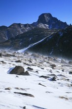 Rocky Mountain National Park, Longs Peak, Continental Divide, blowing snow