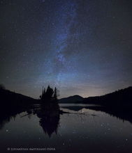 County Line Flow,Kempshall Mt,Milky Way,stars,night,reflection,pond,Adirondack,photography,Adirondack Park,island,sillouette,Johnathan Esper,