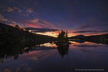 County Line Flow,twilight,November,2017,County Line Flow twilight,evening,island,pond,Adirondack Park,