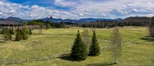 Dads house,Dad's house,fields,spring,2020,ski jumps,homes,Lake Placid,village,idyllic view,home view,sunny,Bear Cub Rd