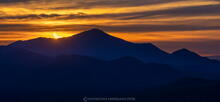 Annular Solar Eclipse rising over Whiteface Mt western flanks from Ampersand Mt 10 June 2021