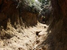 Erosion on Pico Duarte trail
