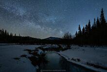 Milky Way over Cascade Peak and North Meadow Brook