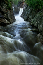 The Flume Gorge on a wet spring day, Wilmington
