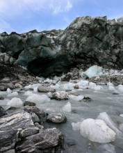 glacier,glaciers,melting,icemelt,ice,chunks,terminus,bottom,end,glacial,melt,stream,meltwater,snowmelt,global warming,gl