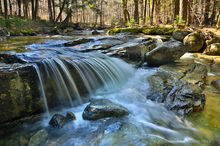 Gill Brook,cascade,stream,brook,Adirondack,High Peaks,Ausable Valley,April,spring,Johnathan Esper,2013,