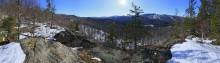 Gore Mt. Ski Area in early springtime