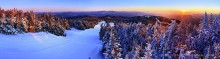 Gore Mountain,ski area,Gore Mt ski area,Gore Mt, treetop,North Creek,sunrise,winter,ski trail,Cloud Trail,