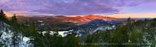 Gore Mountain,Gore Mt,Gore Mt ski area,ski area,Adirondack Park,sunrise,Oven Mt,treetop,Johnathan Esper,