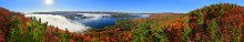 October,fall,autumn,Great Sacandaga Lake,panorama,Clute Mt,Town of Day,360