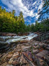 Griffin Falls,Griffin Gorge,East Branch Sacandaga River,Sacandaga River,vertical panorama,spring,2019