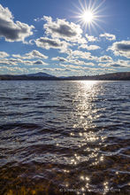 Harris Lake,Lake Harris,sun,sparkle,water,spring,2017,sunburst,Newcomb