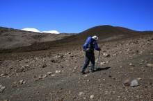 hiking, Mauna Kea, Hawaii, blue, sky, volcanic, landscape, high,