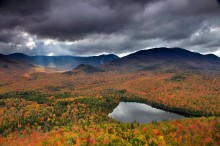 Heart Lake,shaft,sunlight,sunbeam,autumn,Mt Jo,Algonquin,Algonquin Peak