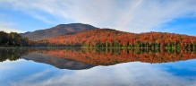 Heart Lake,clouds,flare,reflection,blue,Algonquin,fall,autumn