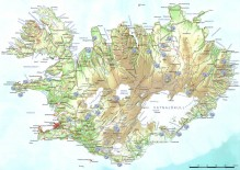 Iceland Map showing 2011 photo locations