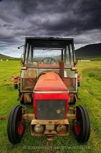 Trollaskagi Peninsula old farm tractor