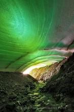 snow tunnel in summer, Kerlingarfjoll Mt