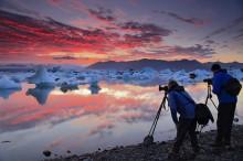 Iceland photography group at Jokulsarlon