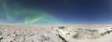Aurora Borealis over Gullfoss, Iceland